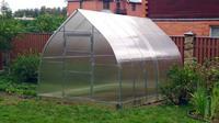 Оцинкованная теплица «КУПОЛ усиленная» в форме купола, труба 25х25
